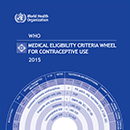 Medical eligibility criteria wheel for contraceptive use